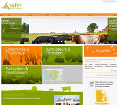 Site institutionnel SAFER Poitou Charentes