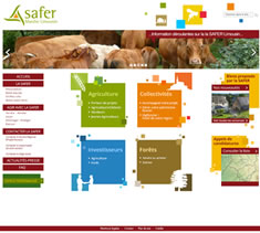 Site institutionnel SAFER Limousin
